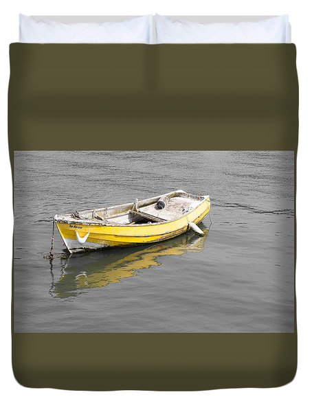 Yellow Boat Duvet Cover