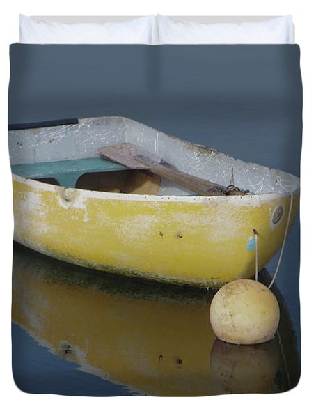 Yellow Rowboat Duvet Cover