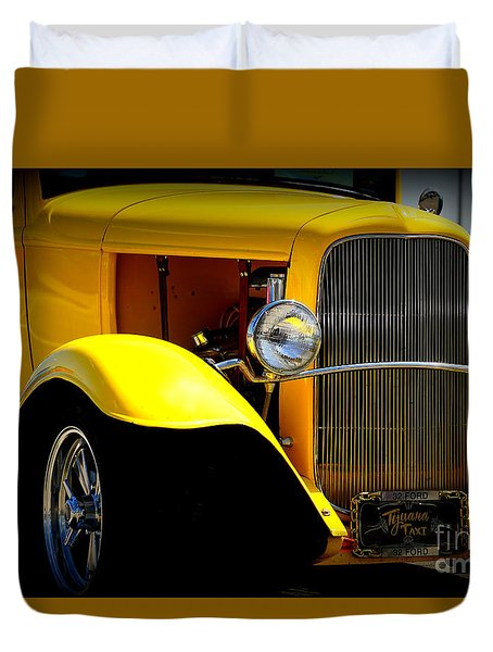 Yellow Boy Duvet Cover