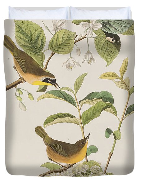Yellow-breasted Warbler Duvet Cover by John James Audubon