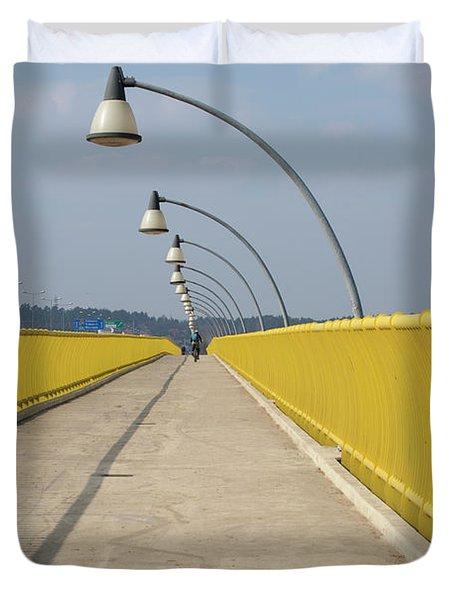 Yellow Bridge Duvet Cover