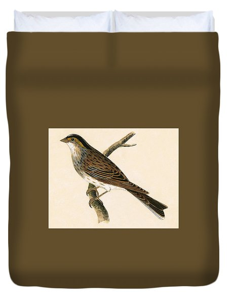 Yellow Browed Bunting Duvet Cover