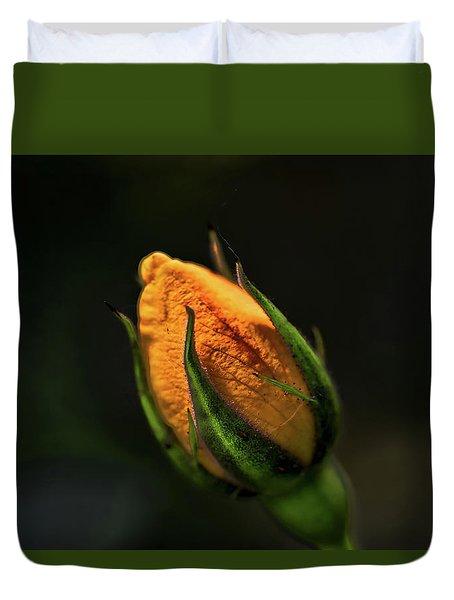 Yellow Bud Duvet Cover