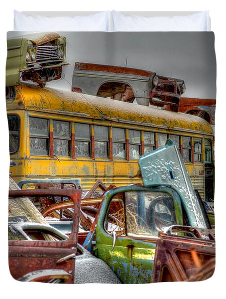 Yellow Bus Duvet Cover