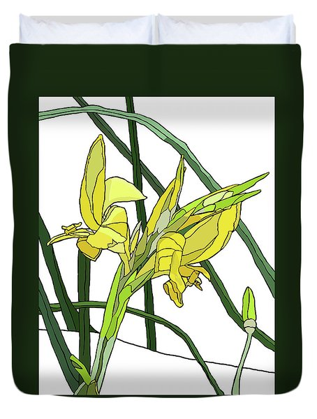 Yellow Canna Lilies Duvet Cover