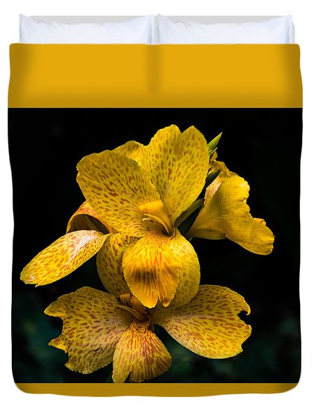 Yellow Canna Lily Duvet Cover