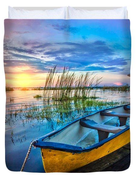 Yellow Canoe Duvet Cover