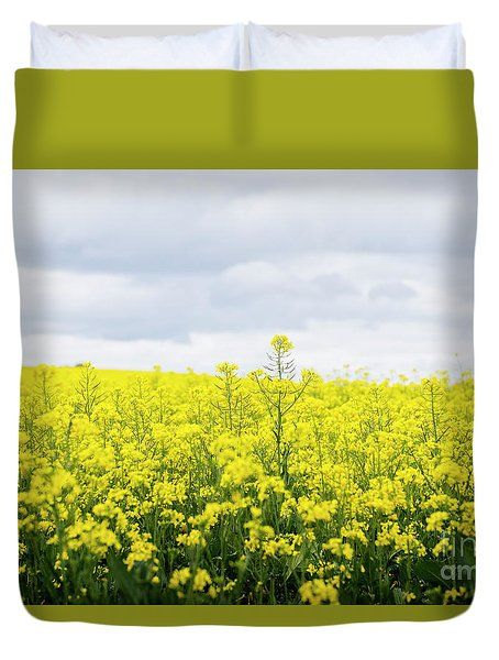 Duvet Cover featuring the photograph Yellow Canopies by Ivy Ho
