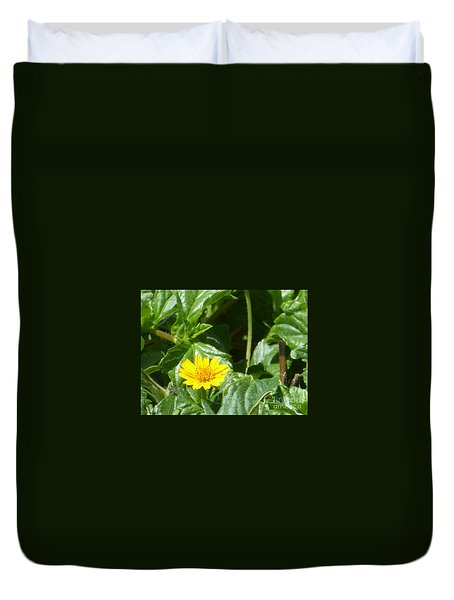 Yellow Caribbean Flower Duvet Cover