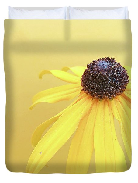 Duvet Cover featuring the photograph Yellow by Cindy Garber Iverson