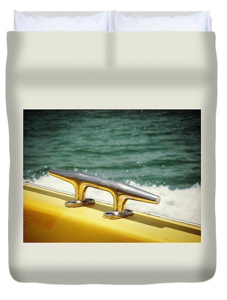 Yellow Cleat Duvet Cover