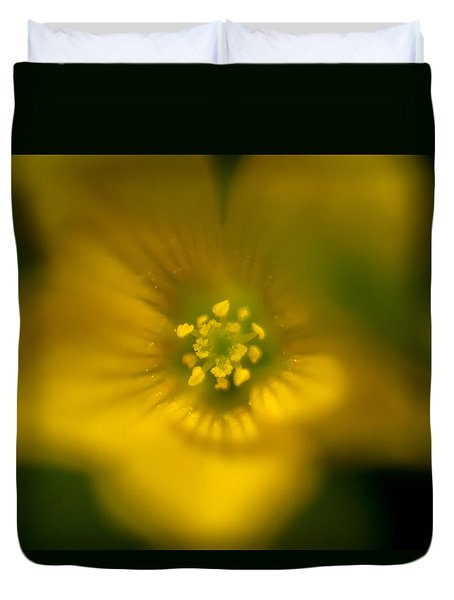 Yellow Clover Duvet Cover
