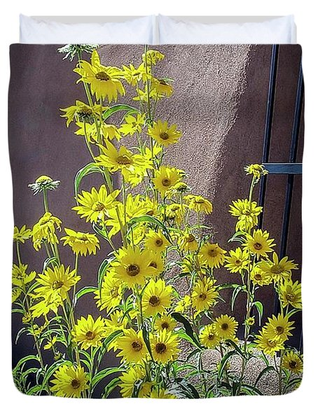 Yellow Composites At Ghost Ranch  Duvet Cover