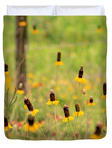 Yellow Cone Flower Duvet Cover