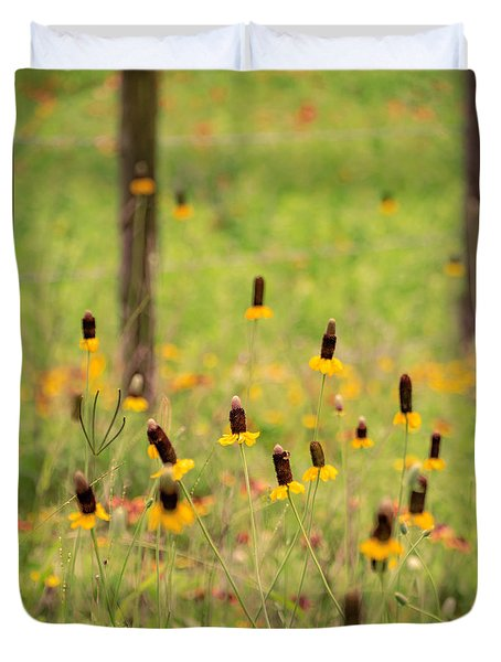 Yellow Cone Flower Duvet Cover