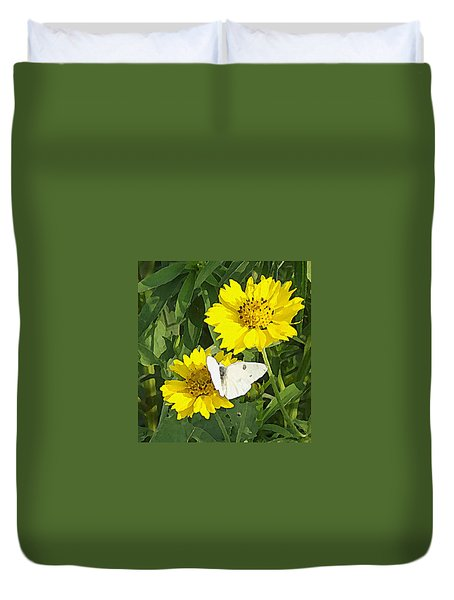 Yellow Cow Pen Daisies Duvet Cover