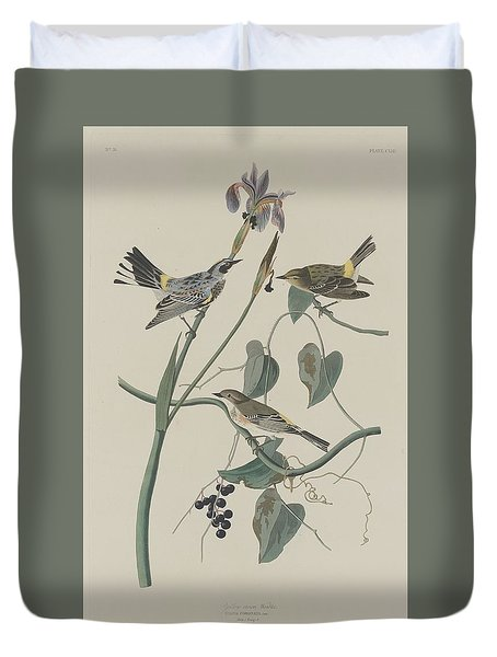 Yellow-crown Warbler Duvet Cover