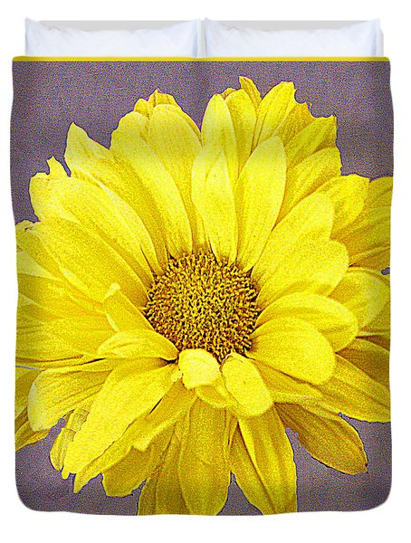Yellow Crysantheeum Duvet Cover by Merton Allen