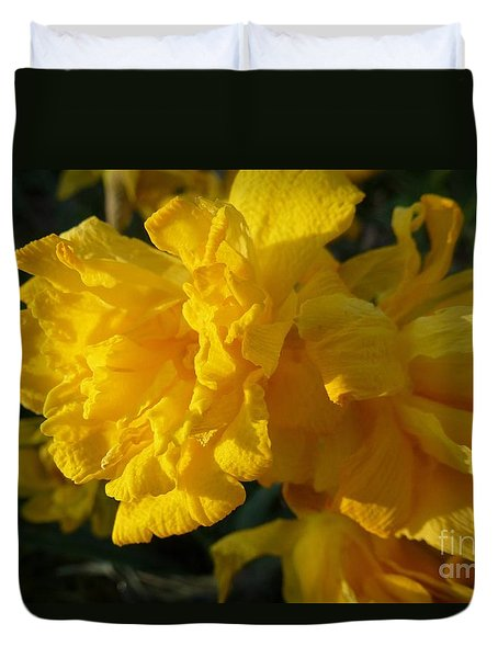 Yellow Daffodils Duvet Cover