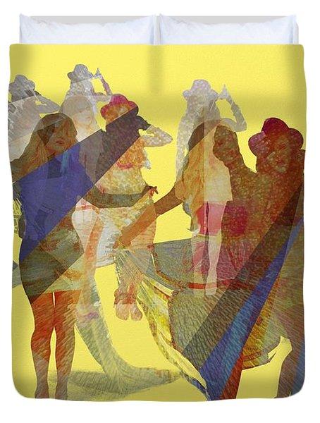 Yellow Dance Duvet Cover