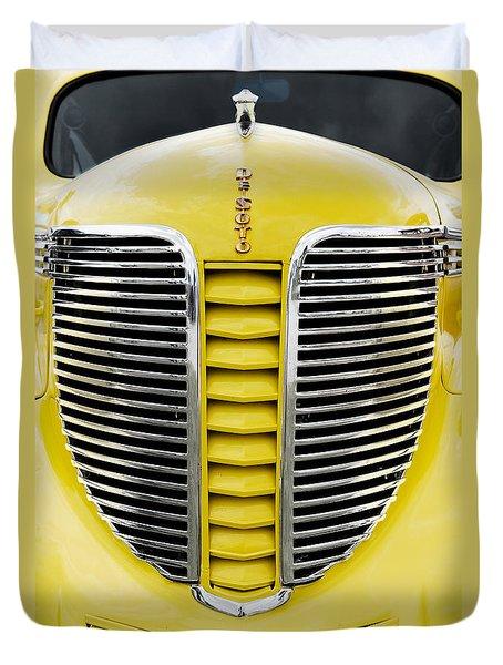 Yellow Desoto Grill Duvet Cover by Patrick Chuprina