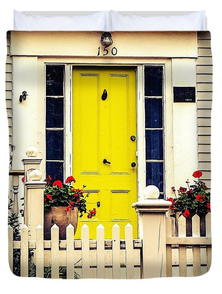 Yellow Door Duvet Cover