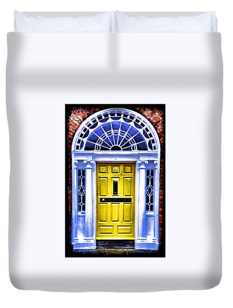 Yellow Dublin Door Duvet Cover