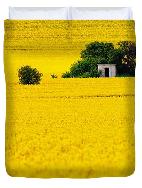 Yellow Duvet Cover by Evgeni Dinev