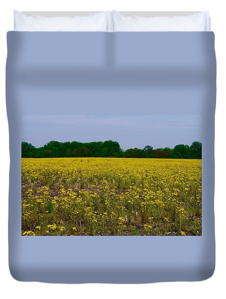 Yellow Field Duvet Cover by Tim Good