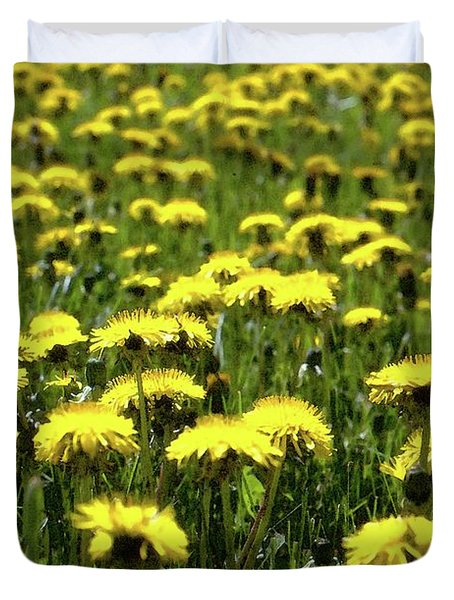 Yellow Field Two  Duvet Cover by Lyle Crump