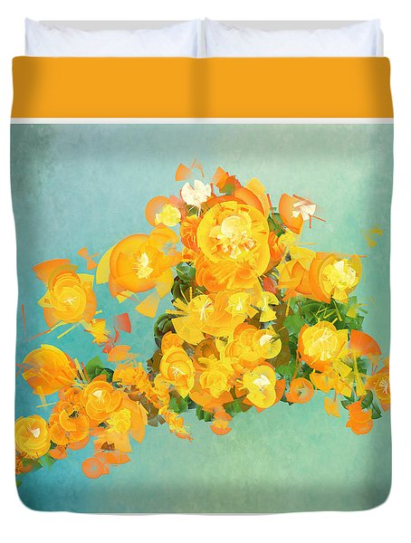 Yellow Fire Spring Duvet Cover