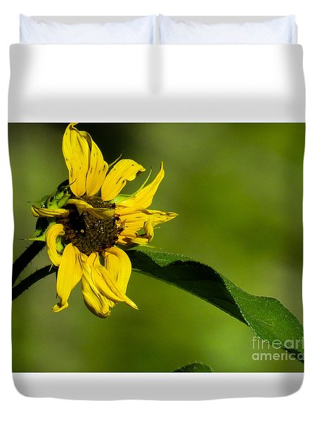 Yellow Flower 1 Duvet Cover