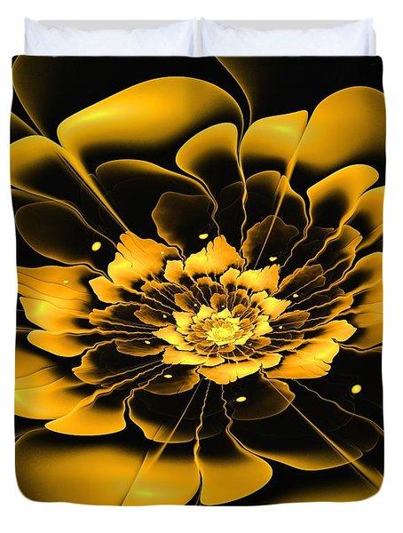 Yellow Flower Duvet Cover by Anastasiya Malakhova