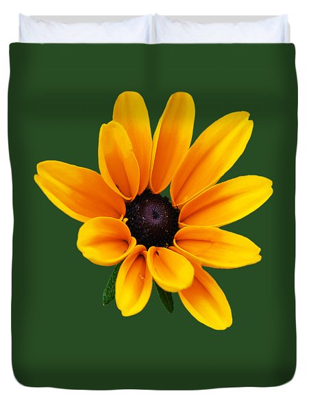 Yellow Flower Black-eyed Susan Duvet Cover by Christina Rollo