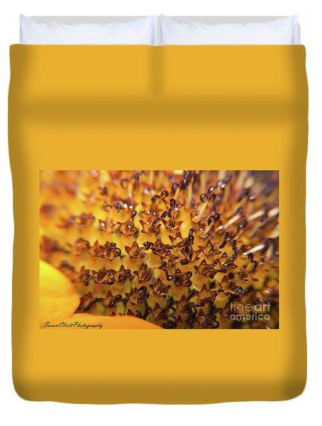 Yellow Flower Center Duvet Cover