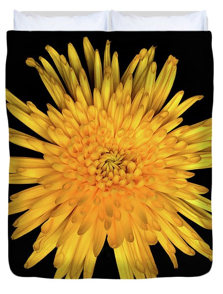 Yellow Flower Macro Duvet Cover