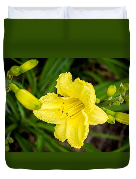 Yellow Flower Duvet Cover