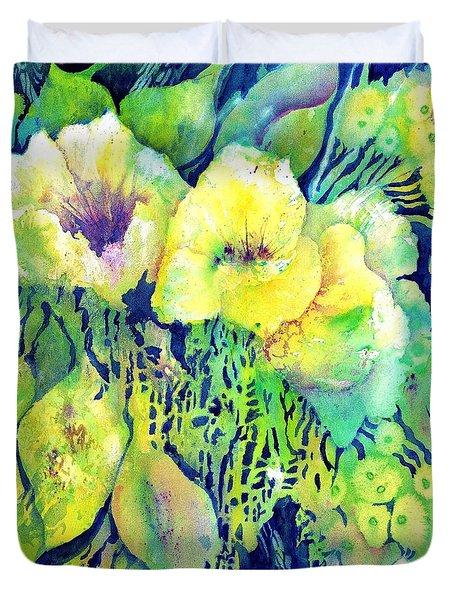 Yellow Flower Potpourri Duvet Cover