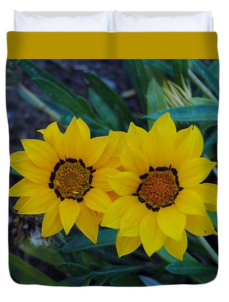 Gazania Rigens - Treasure Flower Duvet Cover