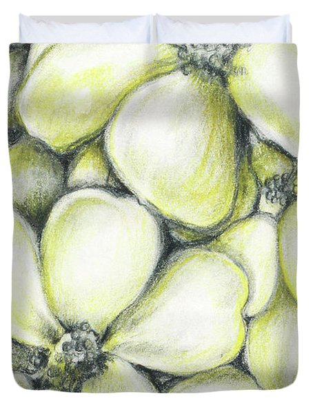 Yellow Flowers Pencil Duvet Cover