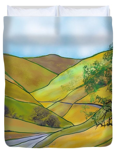 Yellow Foothills Duvet Cover