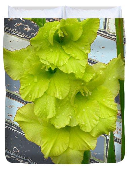 Yellow Gladiolas Duvet Cover
