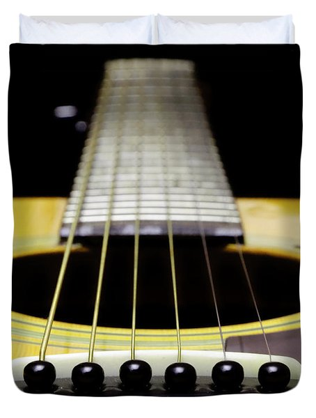 Yellow Guitar 17 Duvet Cover