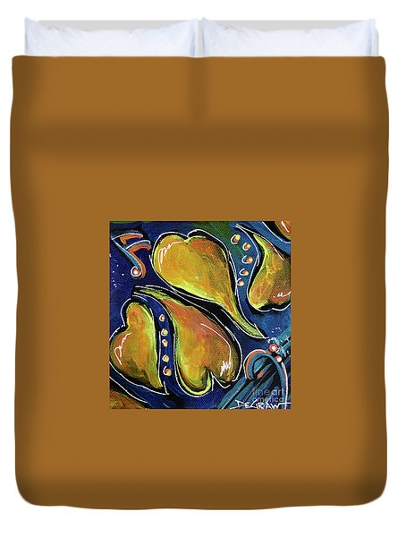 Yellow Hearts Duvet Cover