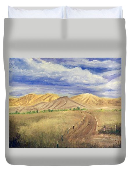 Yellow Hills Of Jensen Duvet Cover