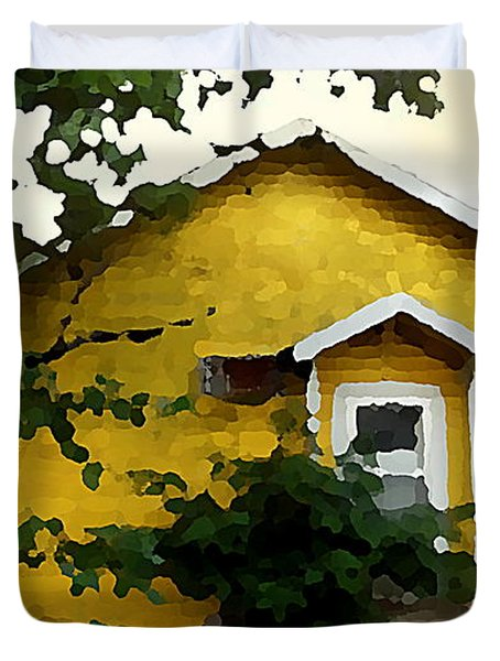 Yellow House In Shantytown  Duvet Cover