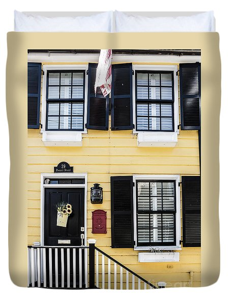 Yellow House Duvet Cover