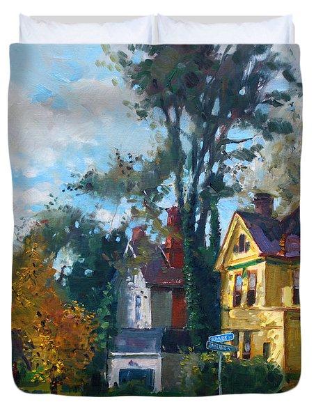 Yellow House Duvet Cover