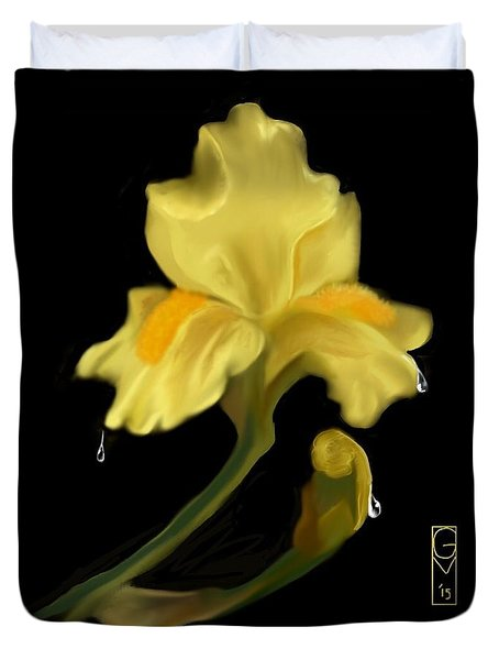 Yellow Iris Duvet Cover