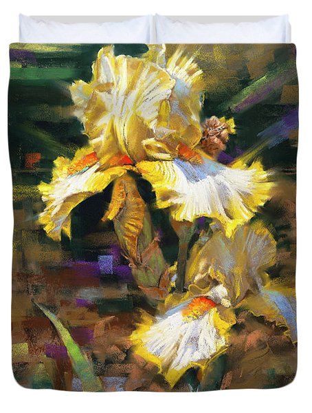 Yellow Iris II Duvet Cover